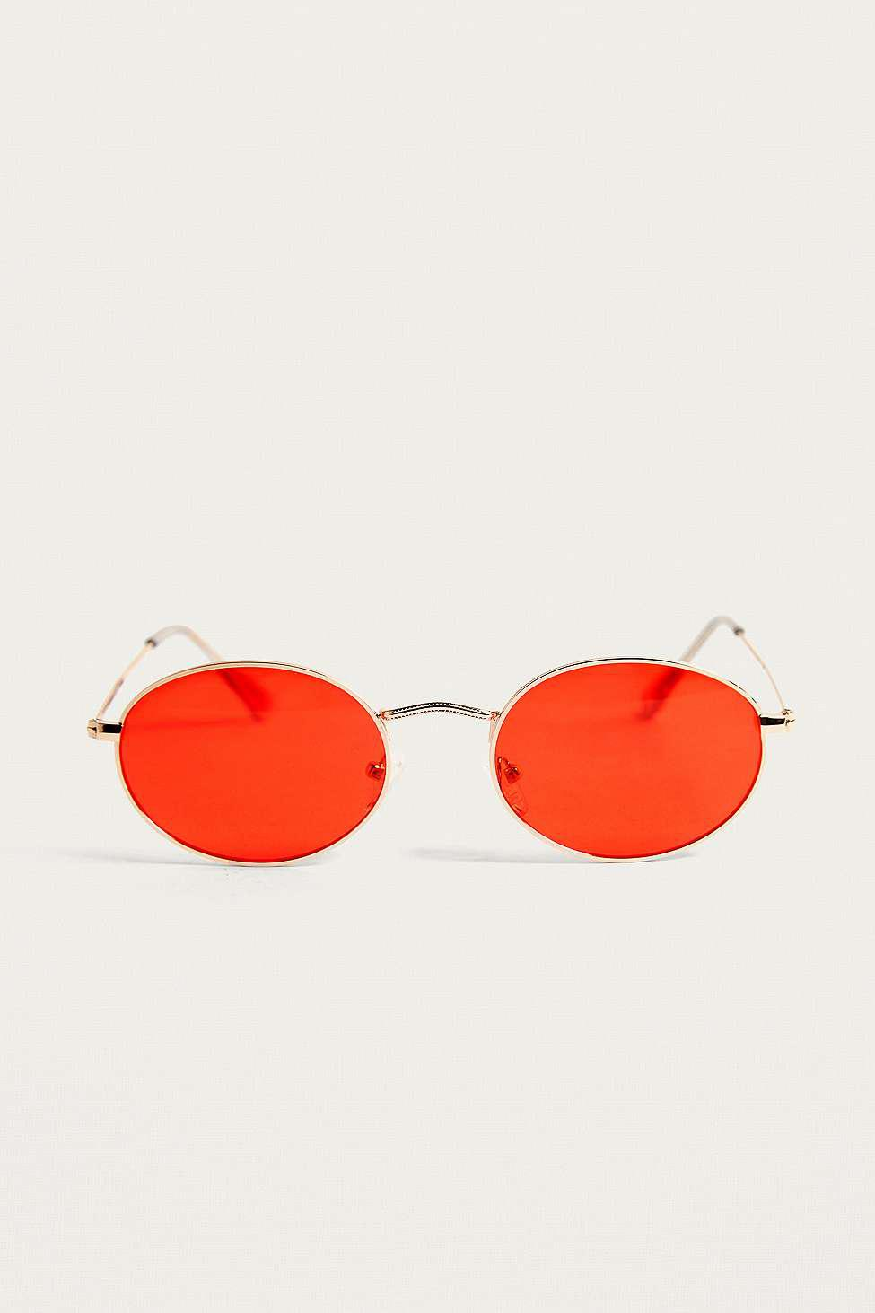 Urban Outfitters Uo 'samson' Red Sunglasses - Mens All for Men