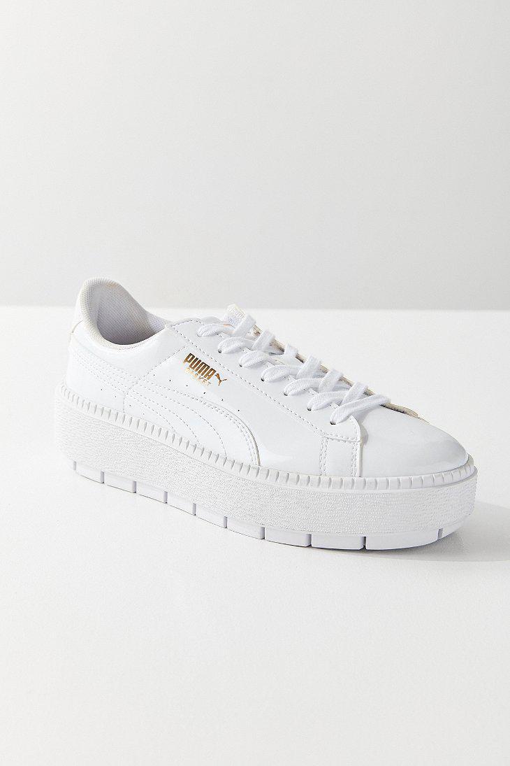 wholesale dealer ed3ab 2b5aa PUMA White Puma Basket Platform Trace P Sneaker