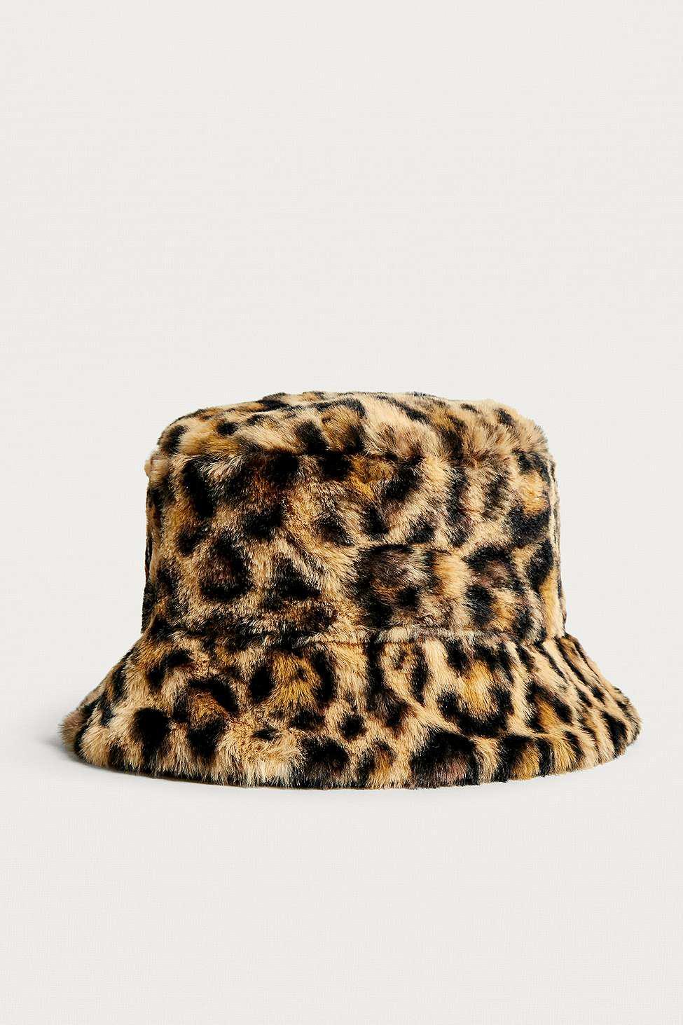 Furry Animal Print Hat
