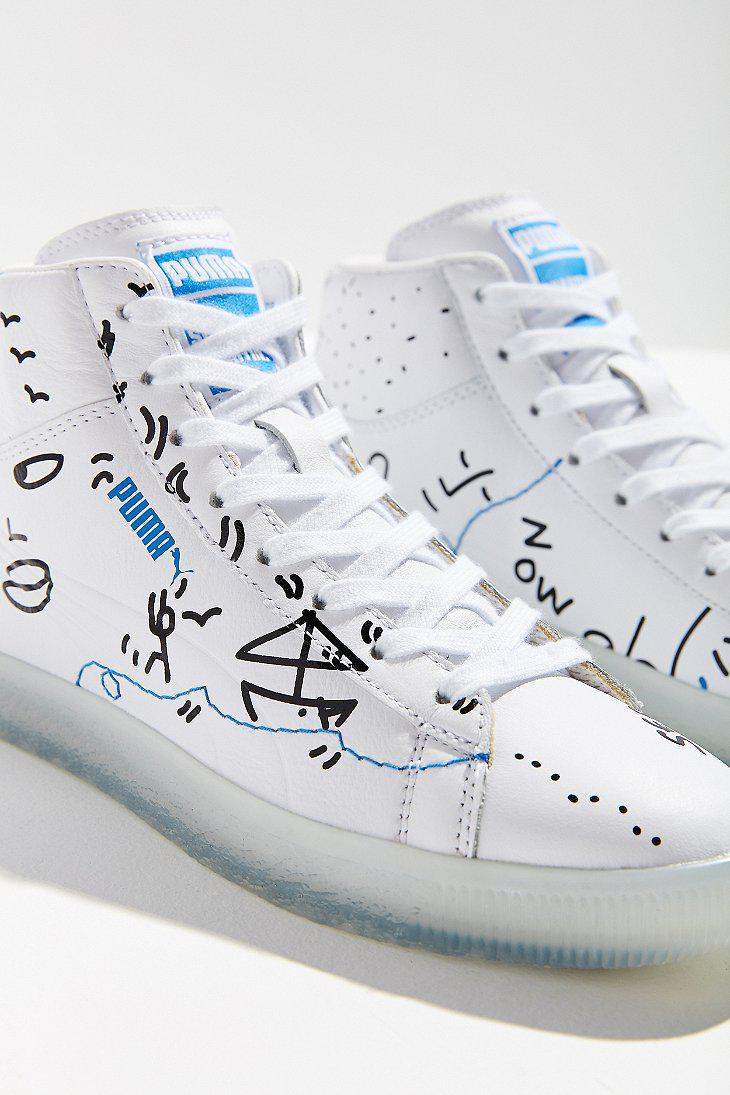 2e2688624df Lyst - PUMA Puma X Shantell Martin Clyde Mid Top Sneaker in White