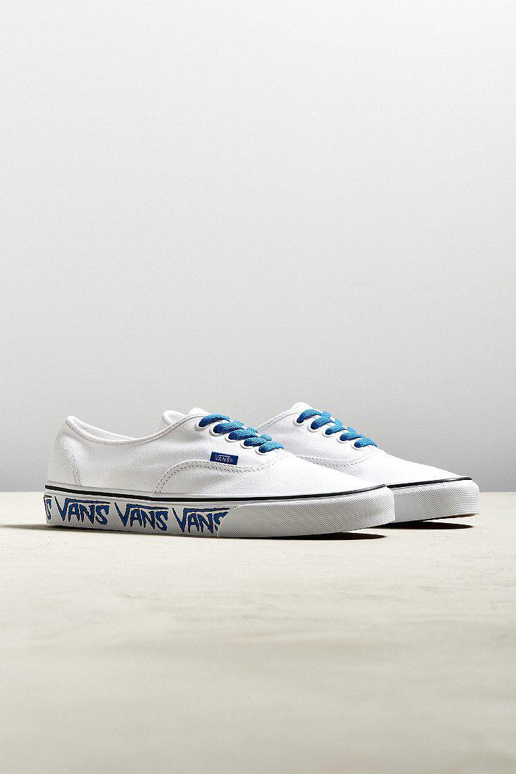 3255ed98ccec Vans Vans Authentic Sketch Sidewall Sneaker in White for Men - Lyst