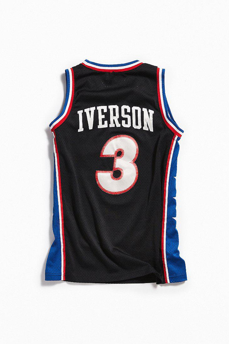 Lyst - Urban Outfitters Vintage Nike Allen Iverson Sixers Basketball ... 46ec1bfb7