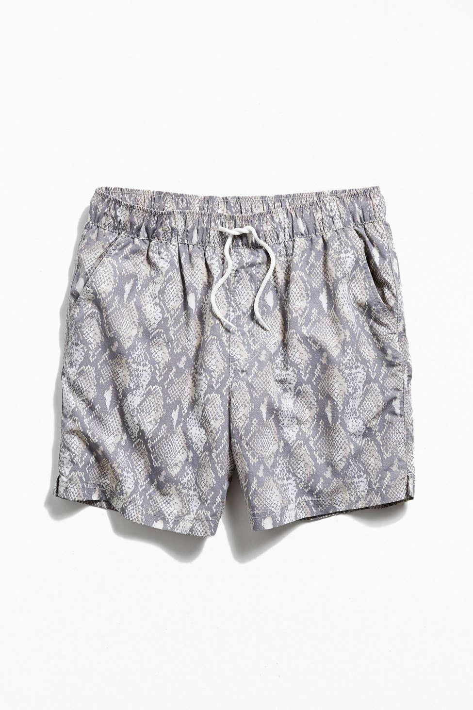40063b7bc0 Lyst - Urban Outfitters Uo Printed Swim Short in Natural for Men