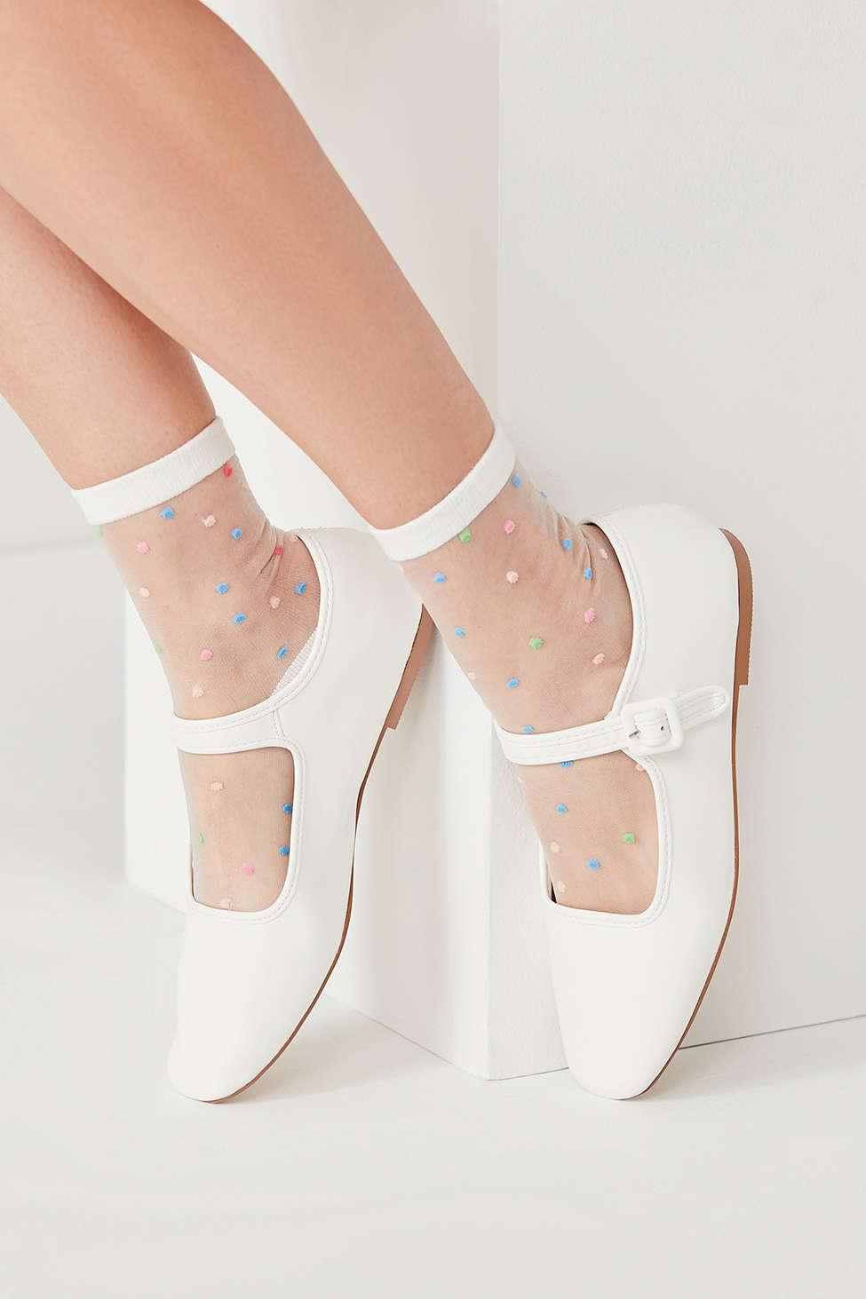 Urban Outfitters Leather Mary Jane Flat In White Lyst