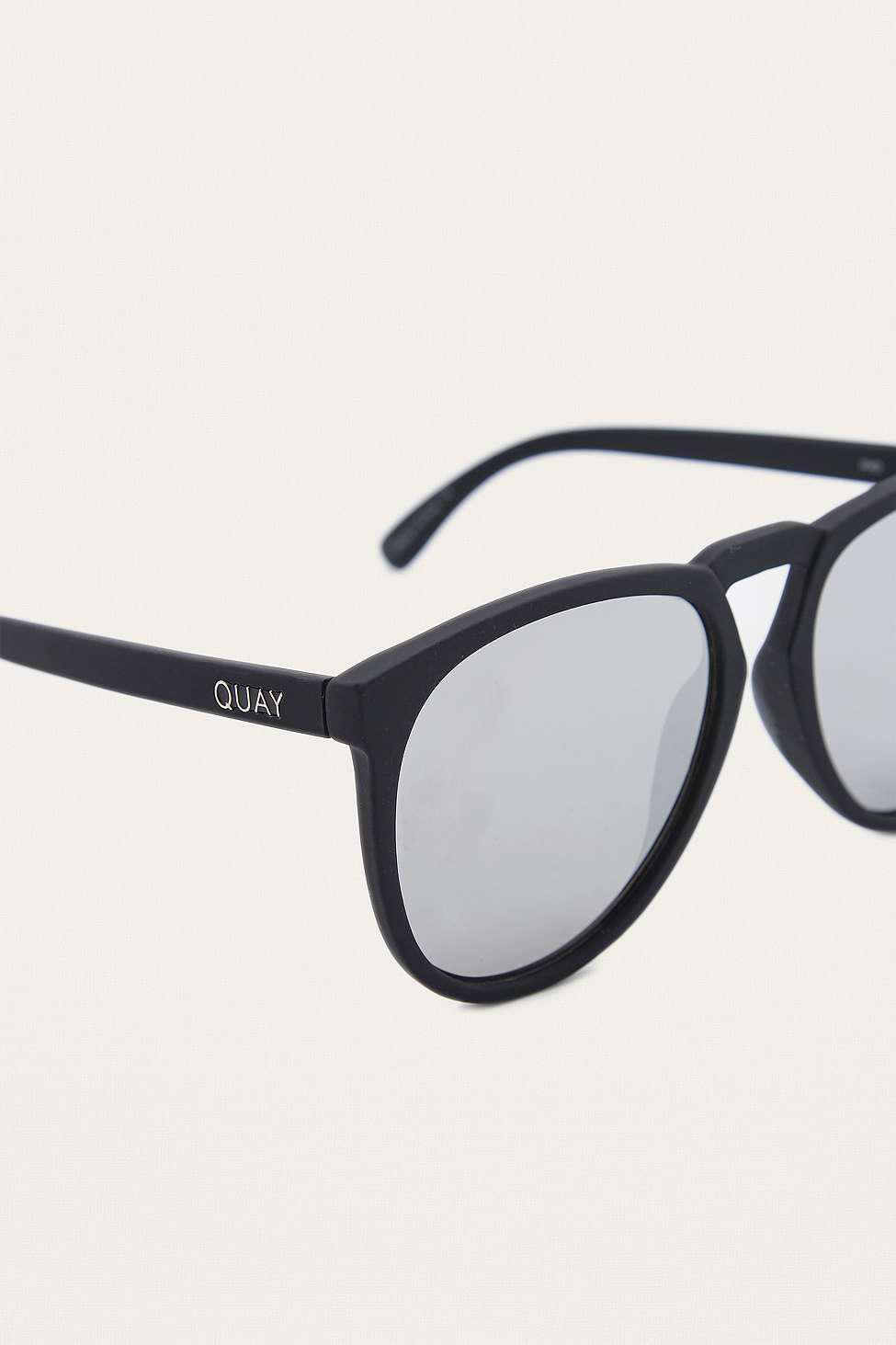 Quay Phd Silver Lens Sunglasses in Black for Men