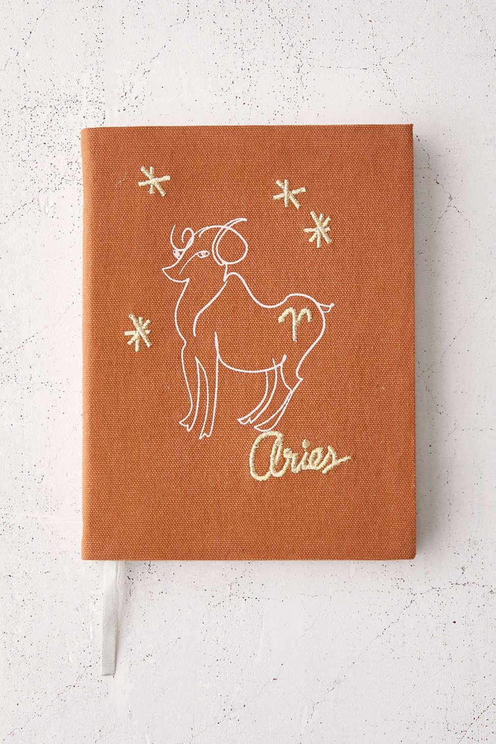 Urban Outfitters Zodiac Embroidered Journal   Lyst