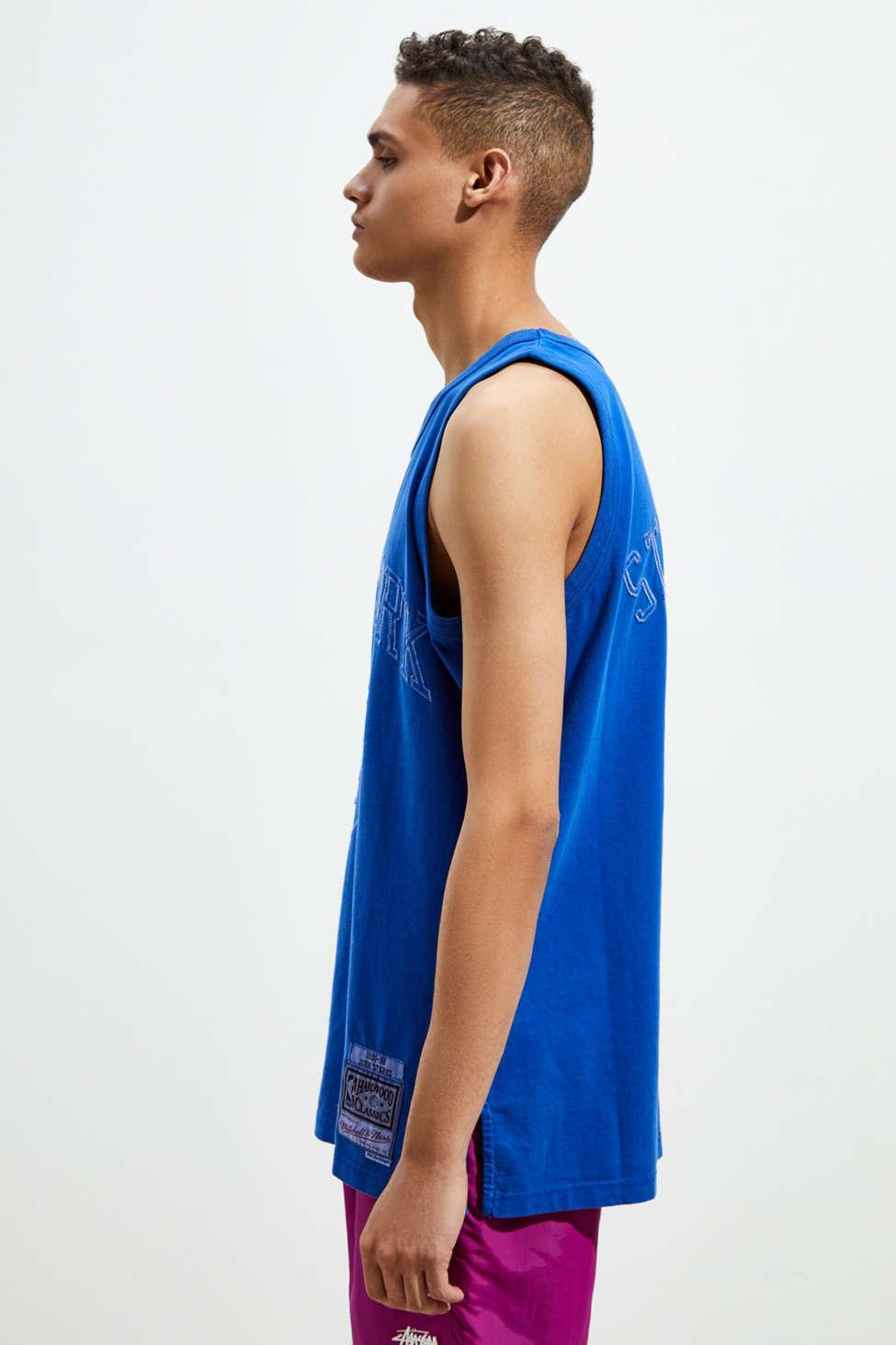 on sale 69534 5c41c Mitchell & Ness Blue New York Knicks John Starks Washed Out Basketball  Jersey for men