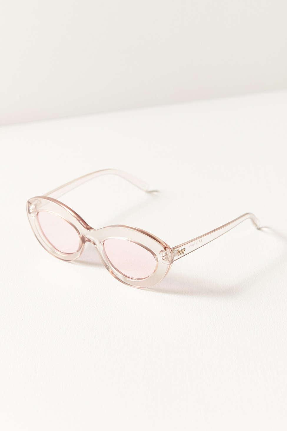 a0575cfab05 Lyst - Le Specs Fluxus Oval Sunglasses