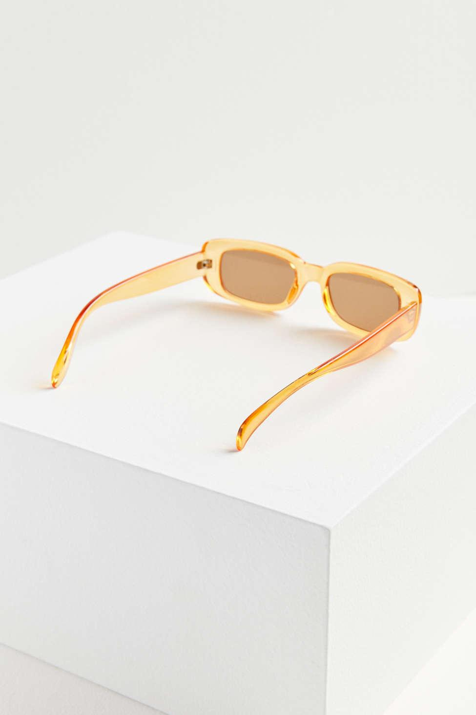 f2c18390bc Lyst - Urban Outfitters Rebel Slim Rectangle Sunglasses in Orange