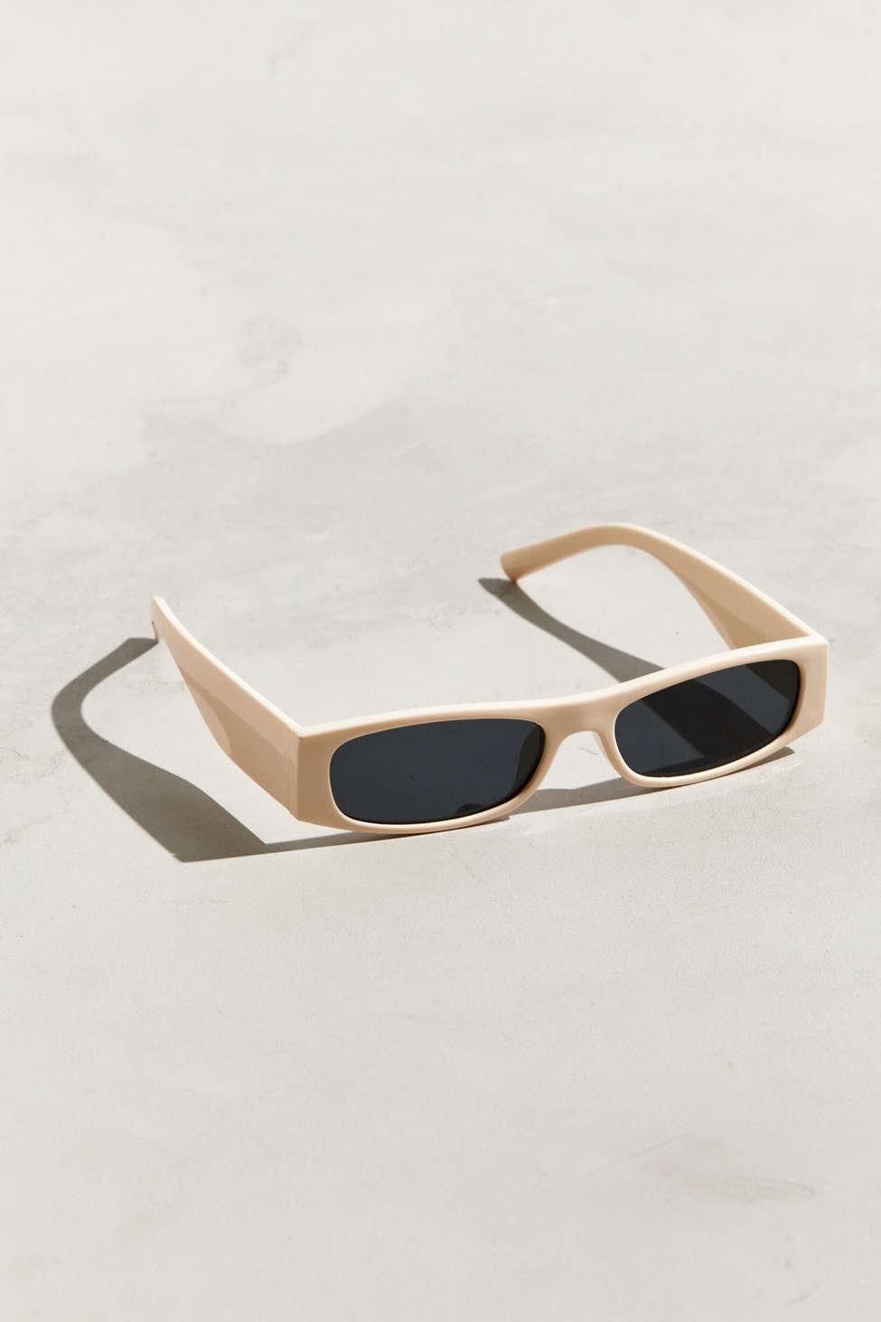 fd247cb015 Lyst - Urban Outfitters Thick Temple Narrow Rectangle Sunglasses in ...