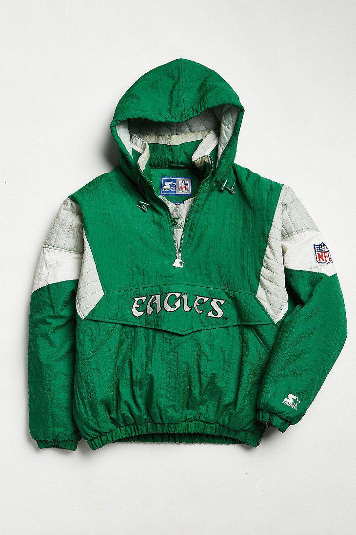 29506171 Urban Outfitters Green Vintage Starter Philadelphia Eagles Anorak Jacket  for men