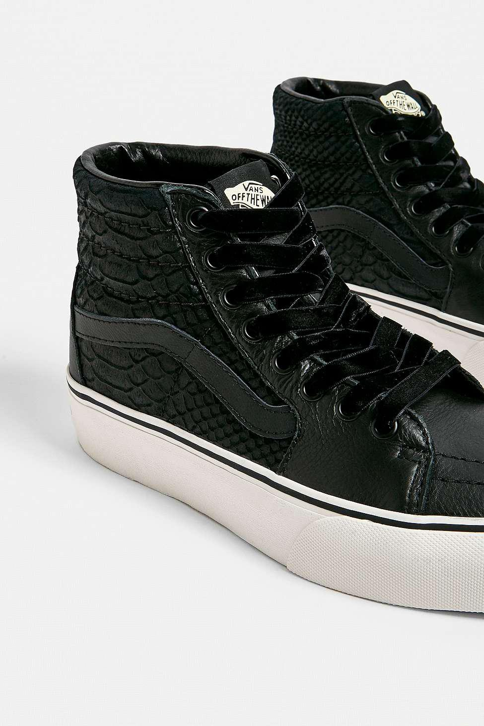 vans snakeskin black