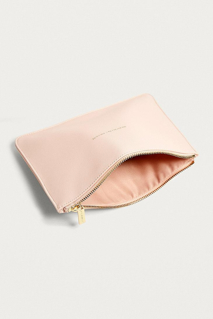 Estella Bartlett White Embossed Pouch Make Up Bag