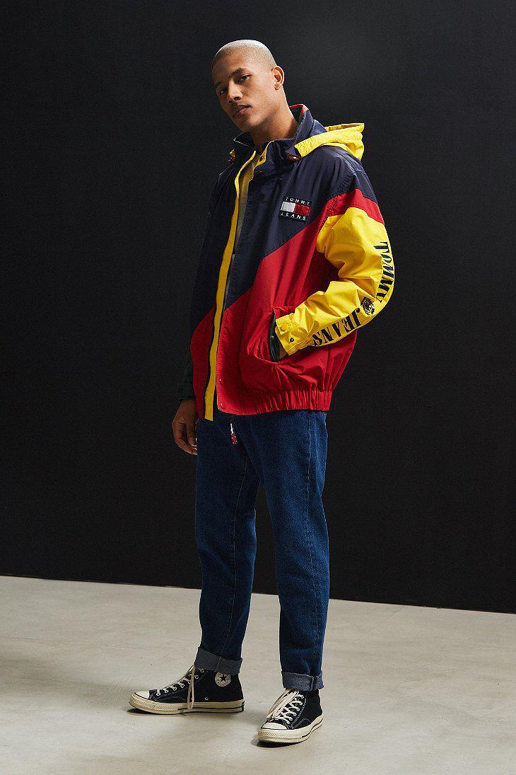 f05ed334 Tommy Hilfiger Colorblocked Sailing Jacket in Blue for Men - Lyst