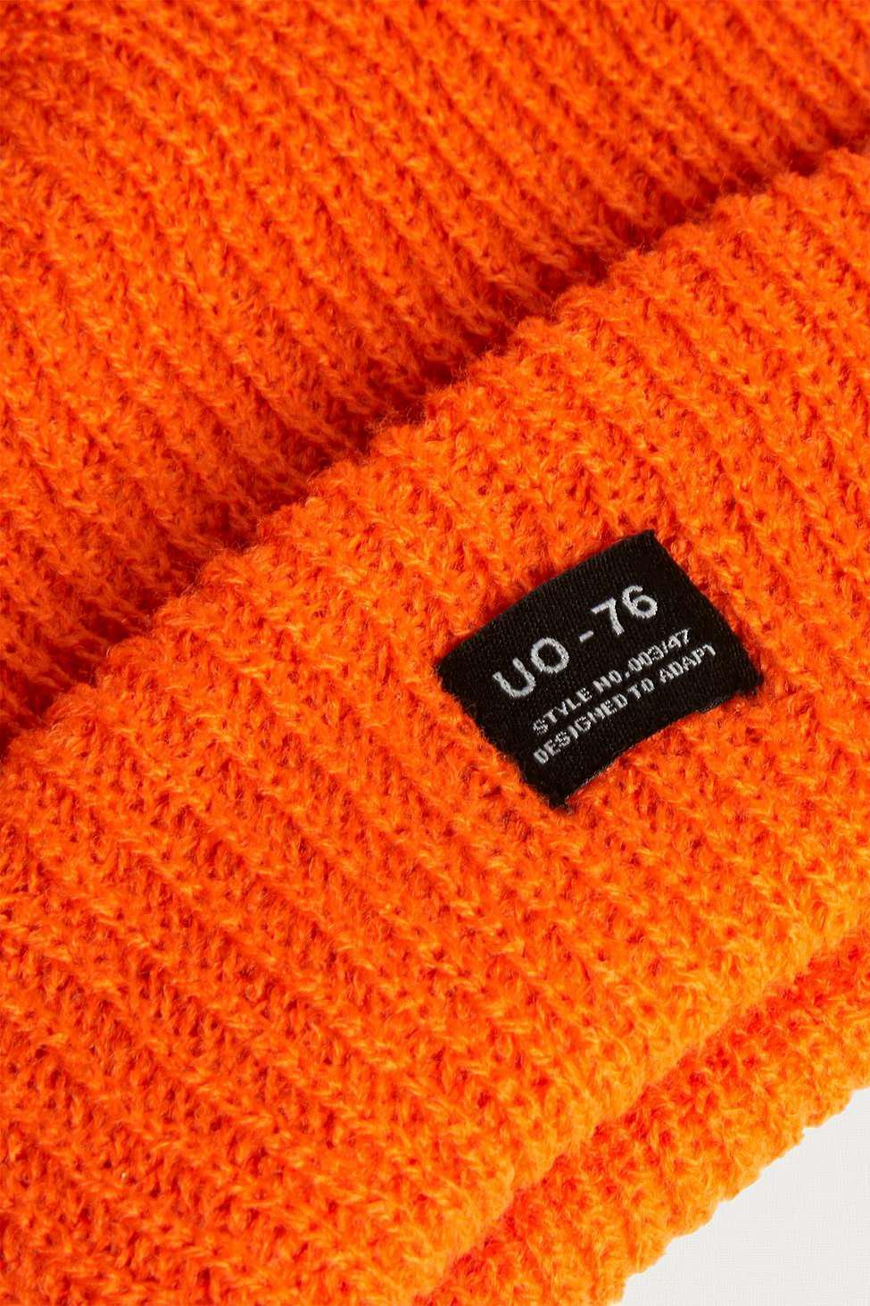ac7b1fca579 Urban Outfitters Uo Orange Mini Roll Beanie - Mens All in Orange for ...