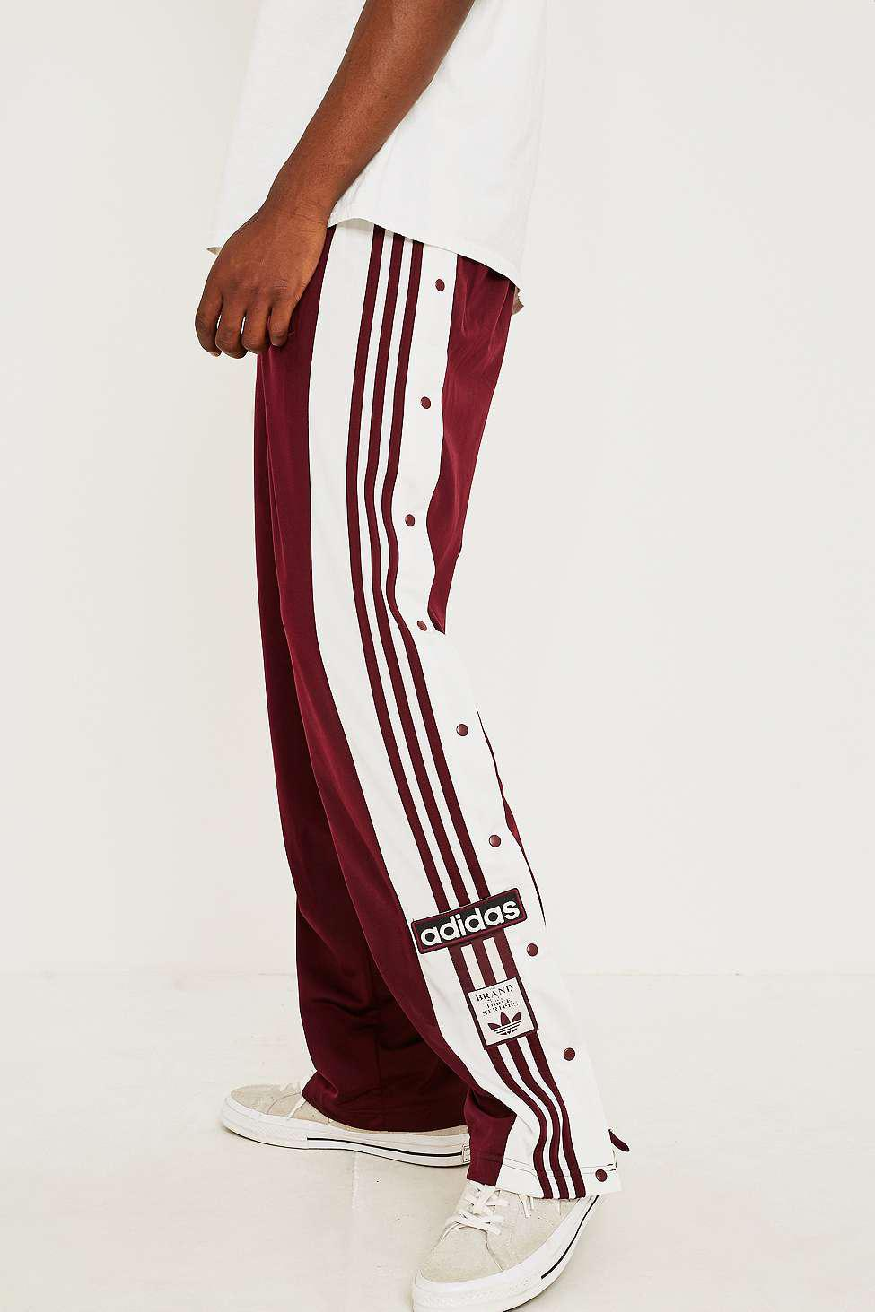 77ef34b80c59 adidas Adibreak Maroon Track Pants in Red for Men - Lyst