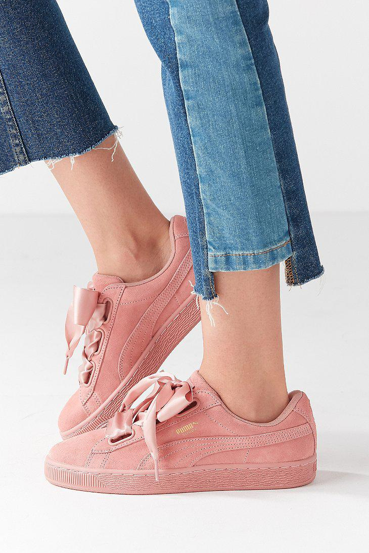 Puma Suede Heart Satin II Sneaker Urban Outfitters Pink