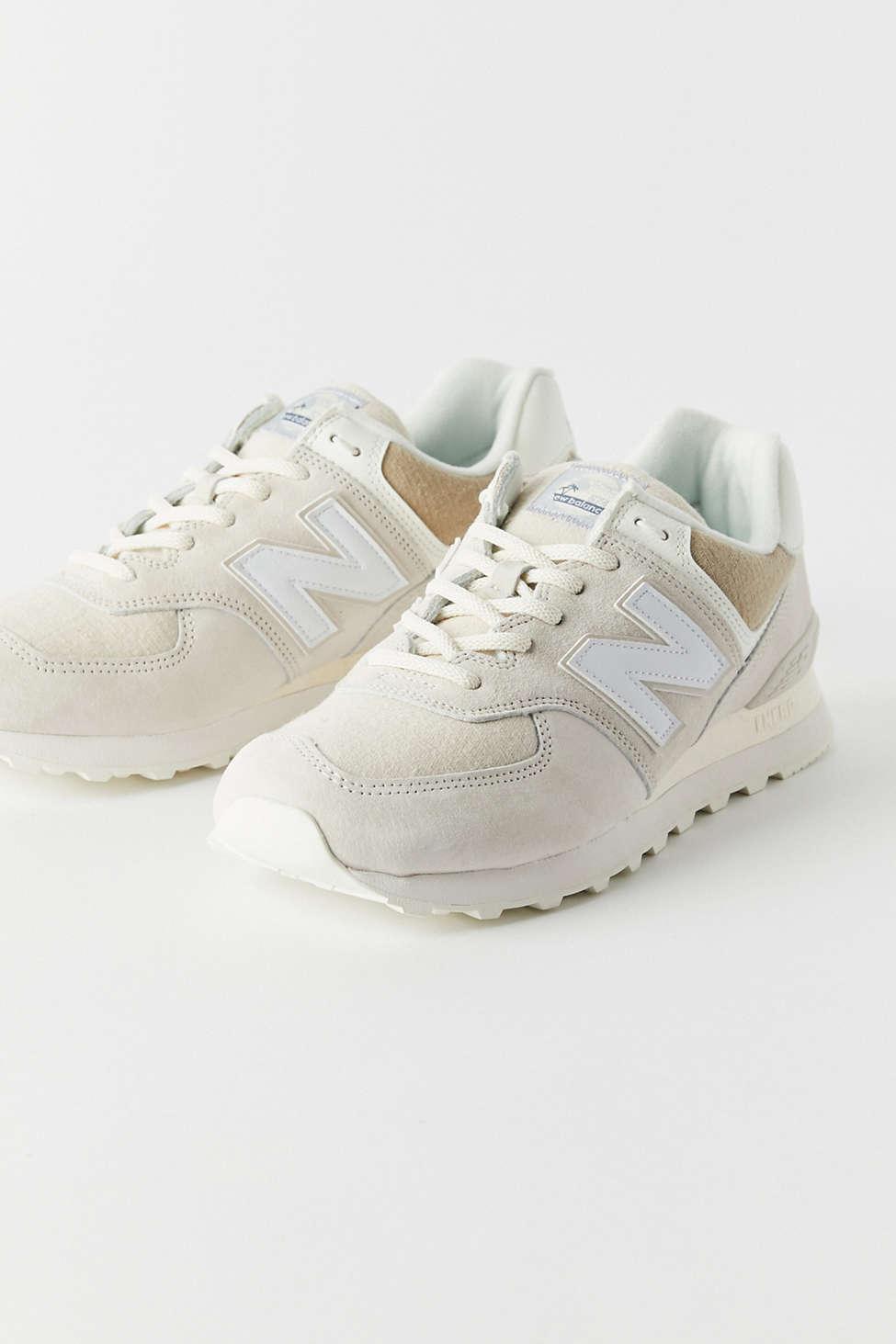 New Balance Suede 574 Summer Beach Sneaker in Grey (White) - Lyst