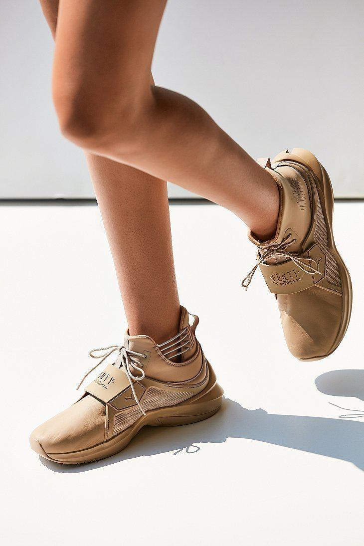 15a54c118b48c0 Lyst - PUMA Fenty By Rihanna Trainer Hi Leather Sneaker in Natural