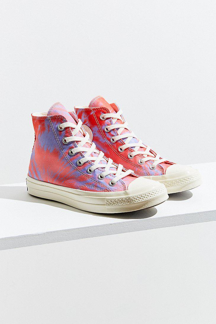 b548d1bafa14 Lyst - Converse Converse Chuck 70 Tie-dye High Top Sneaker