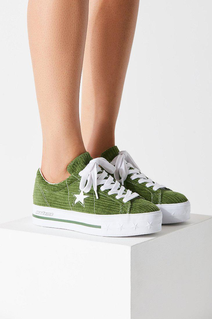 Converse Converse One Star X Mademe Corduroy Platform Sneaker in ...
