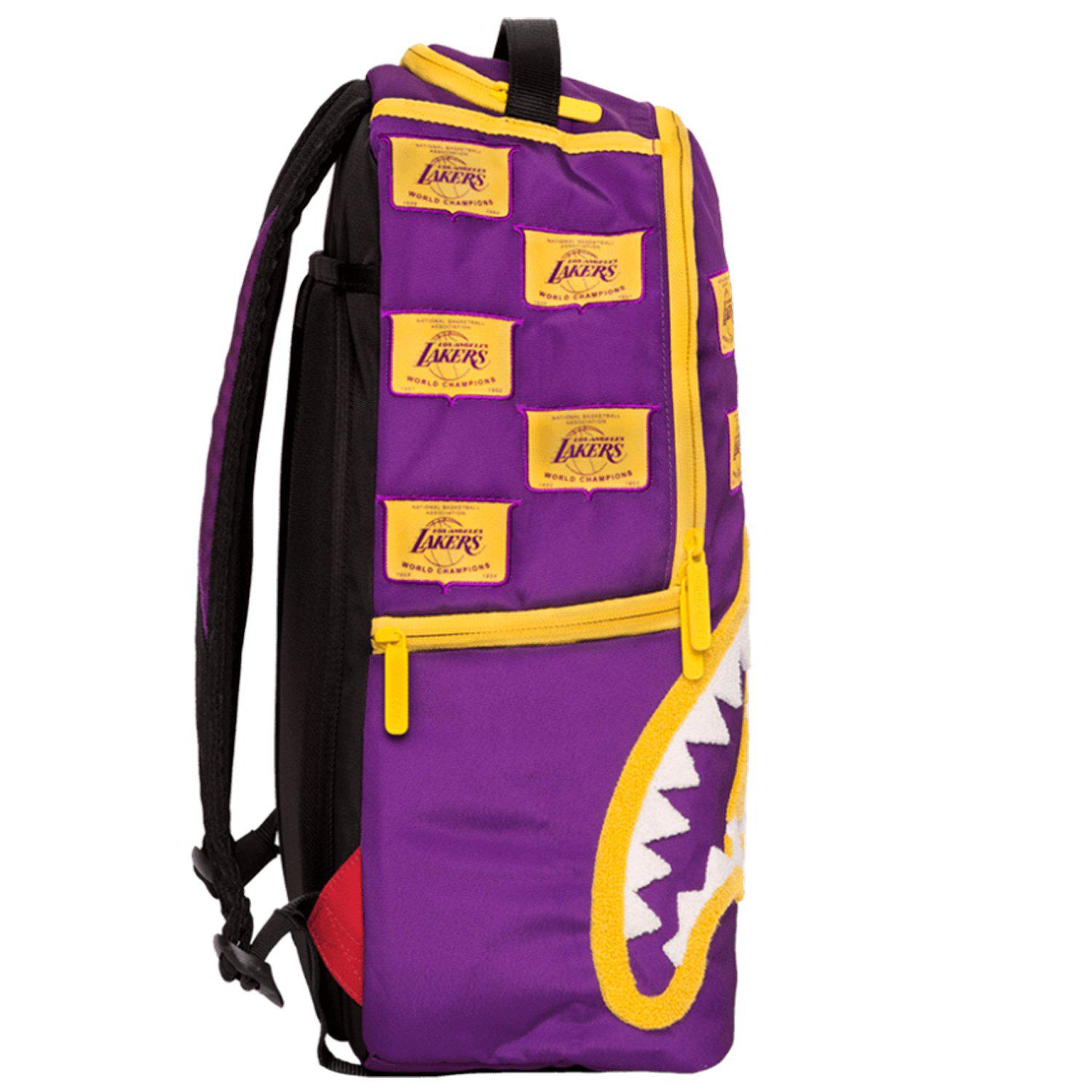 Lyst - Sprayground Nba Lab Lakers Patches Backpack a06176915aa37