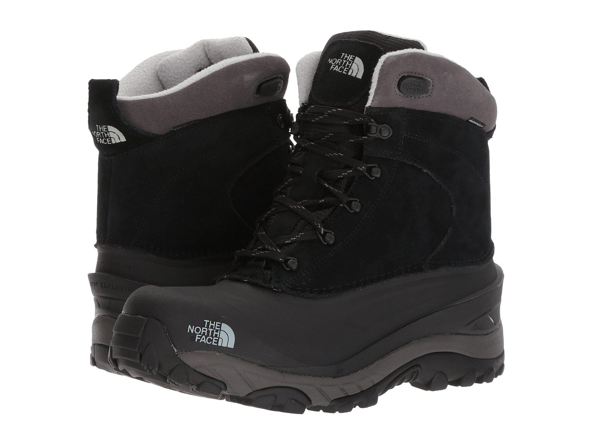 The North Face Leather Chilkat Iii Boots In Black For Men Save 65 Lyst