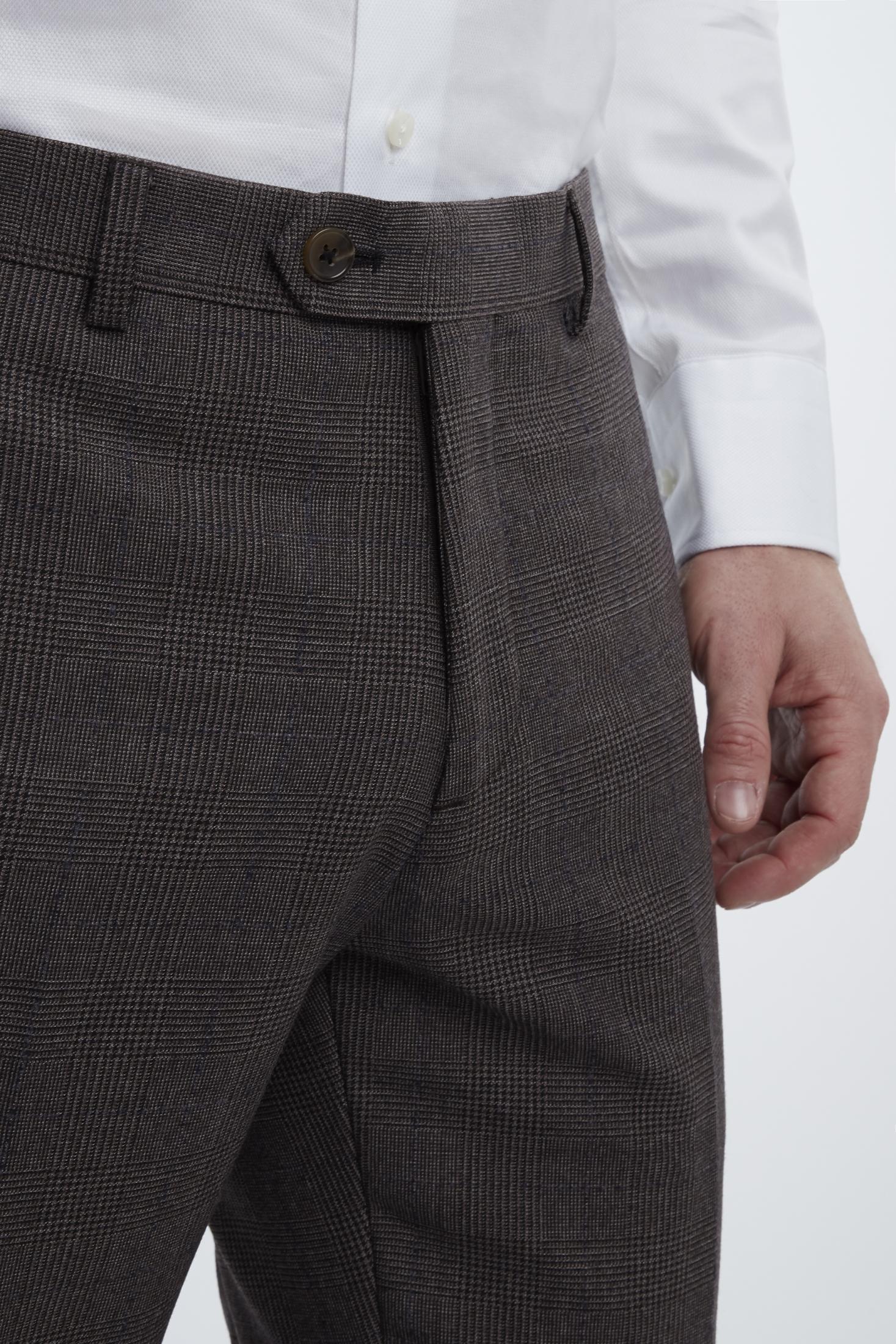 Van Gils Synthetisch Mix & Match Pantalon Bull Met Ruit in het Bruin voor heren
