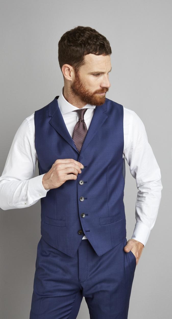 Van Gils Egor Waistcoat in het Blauw voor heren