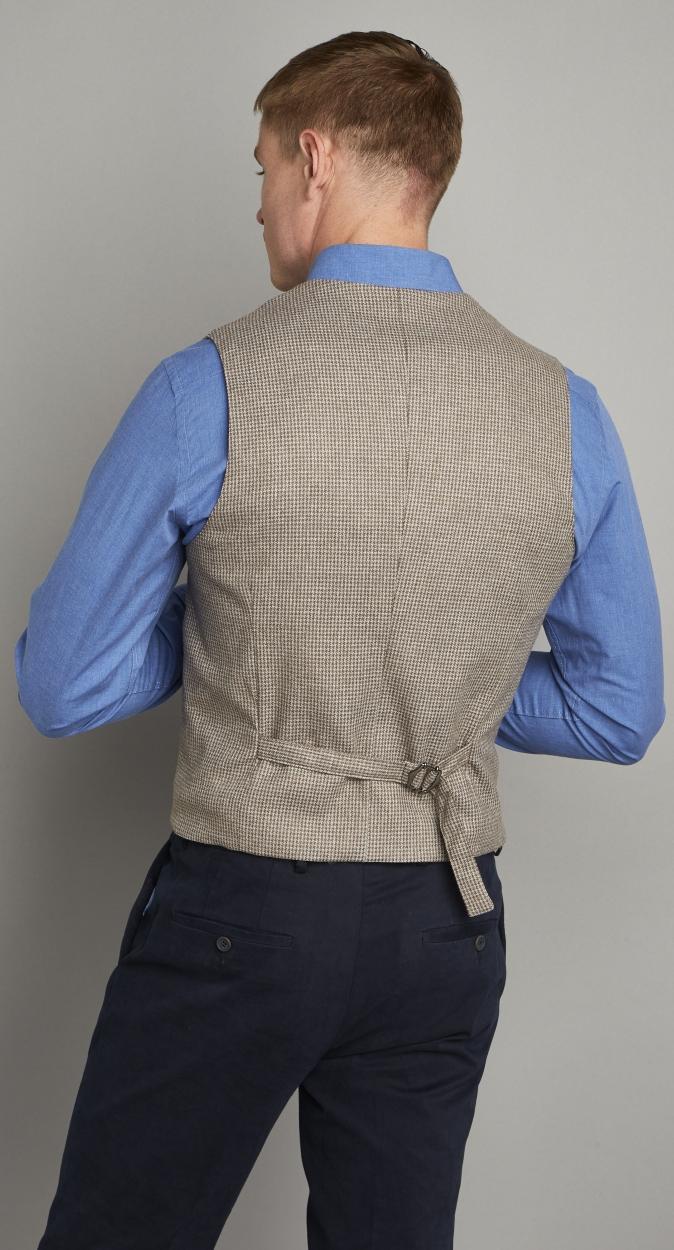 Van Gils Synthetisch Eloy Waistcoat Met Pied-de-poule Dessin in het Bruin voor heren