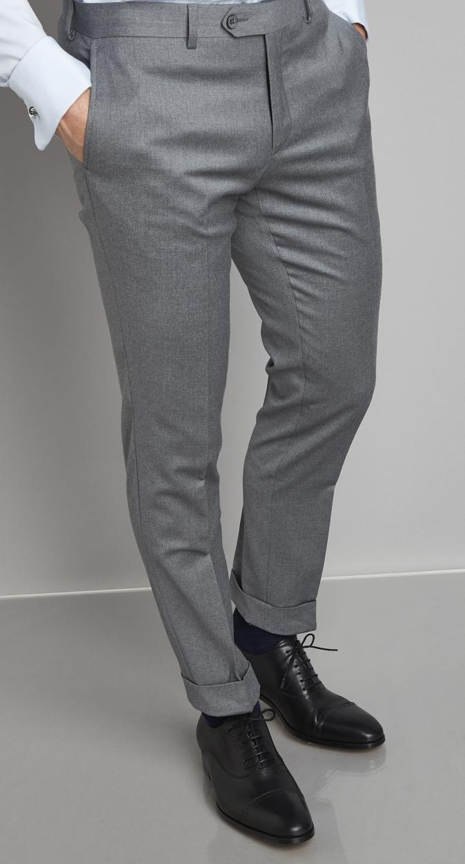 Van Gils Synthetisch Bull Tailored Fit Pantalonmix & Match in het Grijs voor heren