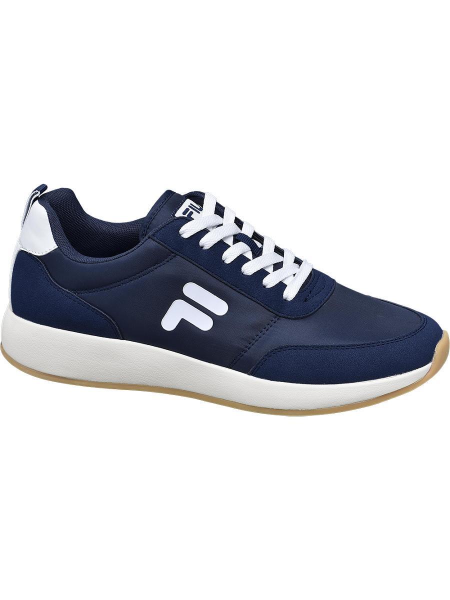 Fila Rubber Donkerblauwe Sneaker in het Blauw voor heren