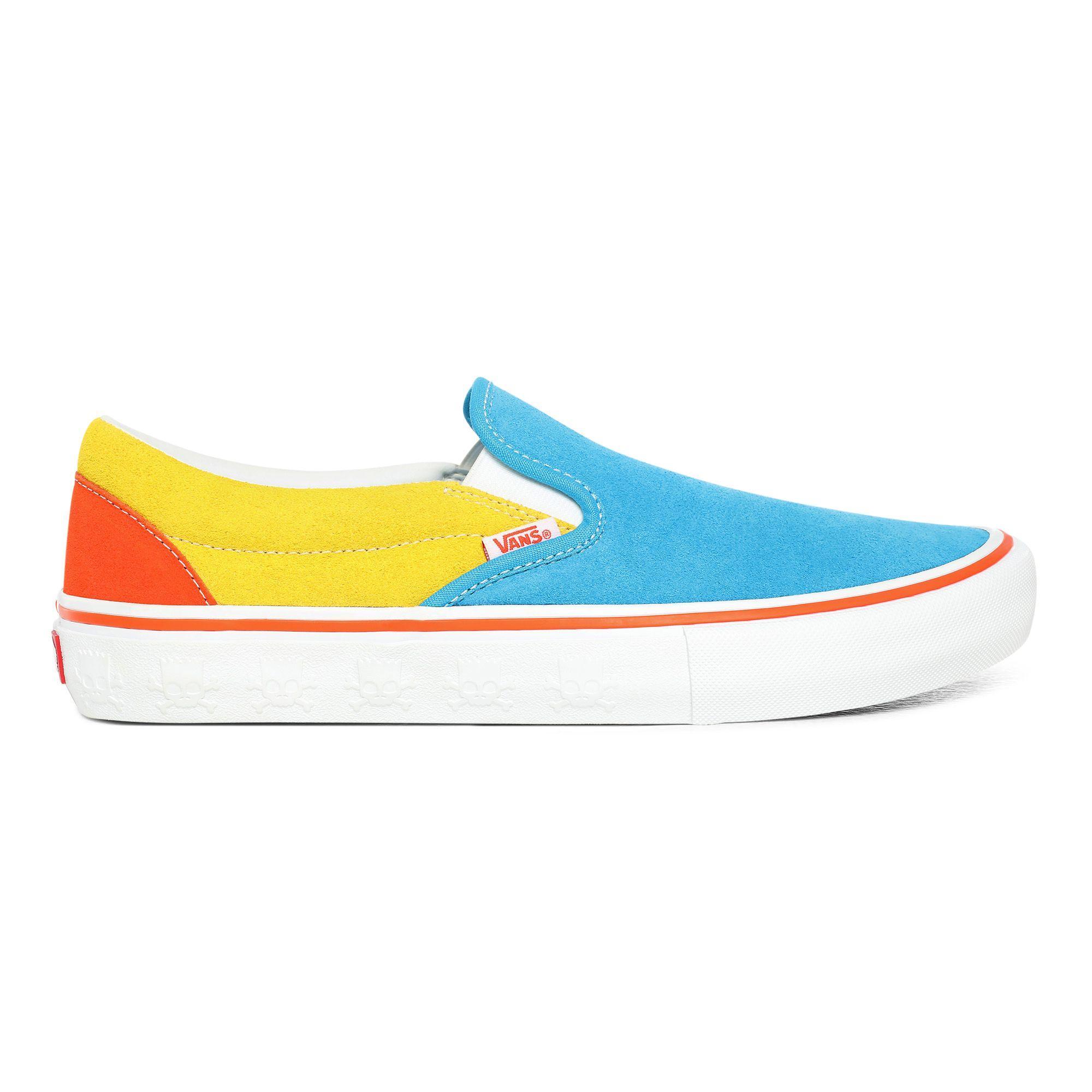 Chaussures The Simpsons X Slip-on Pro Toile Vans en coloris Bleu ...