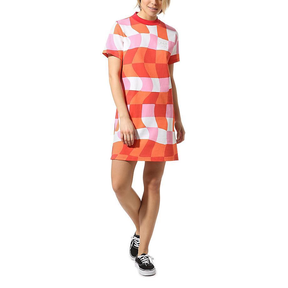 Robe T-shirt À Carreaux X Ines Vans en coloris Rouge - Lyst