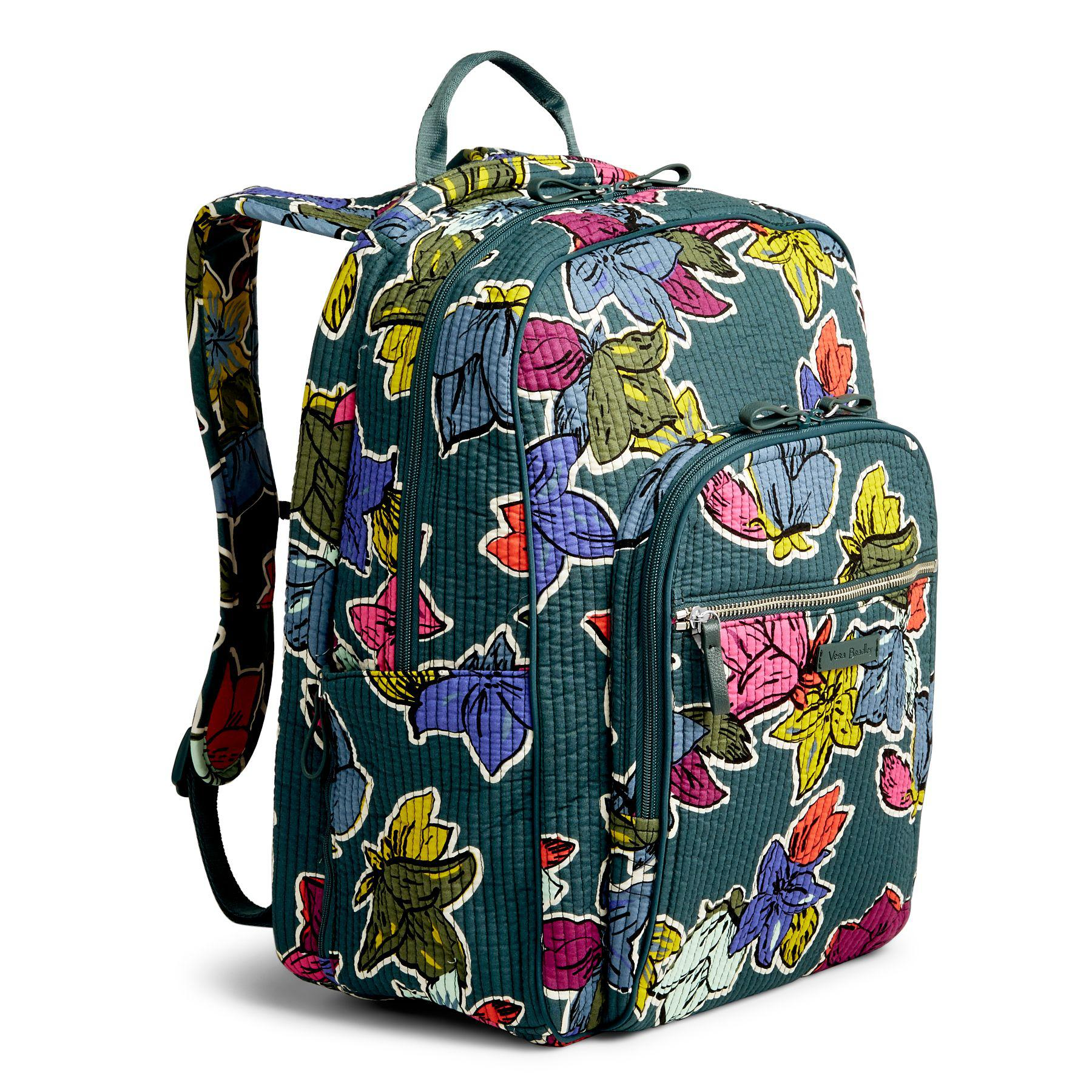 Lyst - Vera Bradley Iconic Deluxe Campus Backpack e0ece7c404ee1