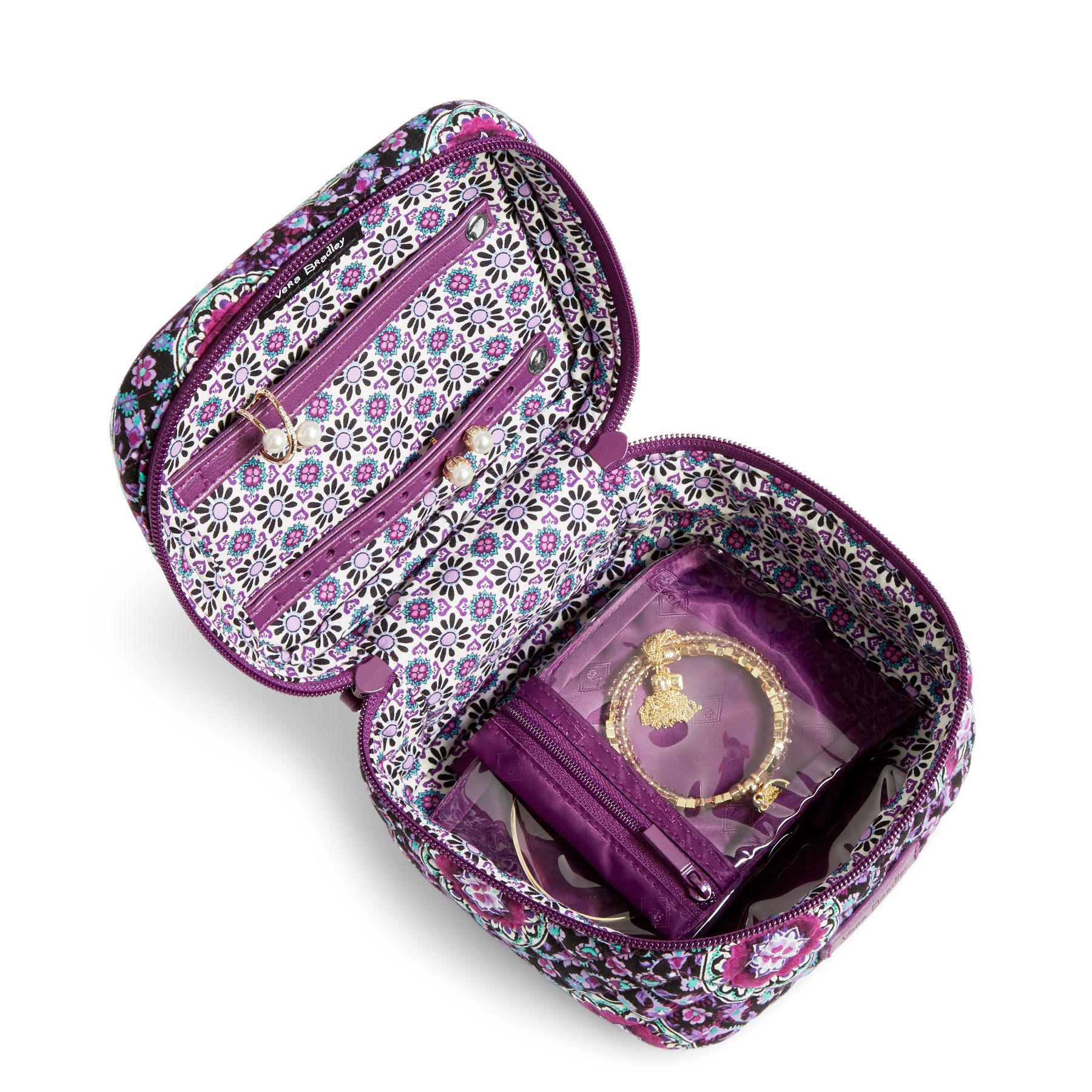 Vera Bradley Cotton Iconic Jewelry Case in Purple - Lyst
