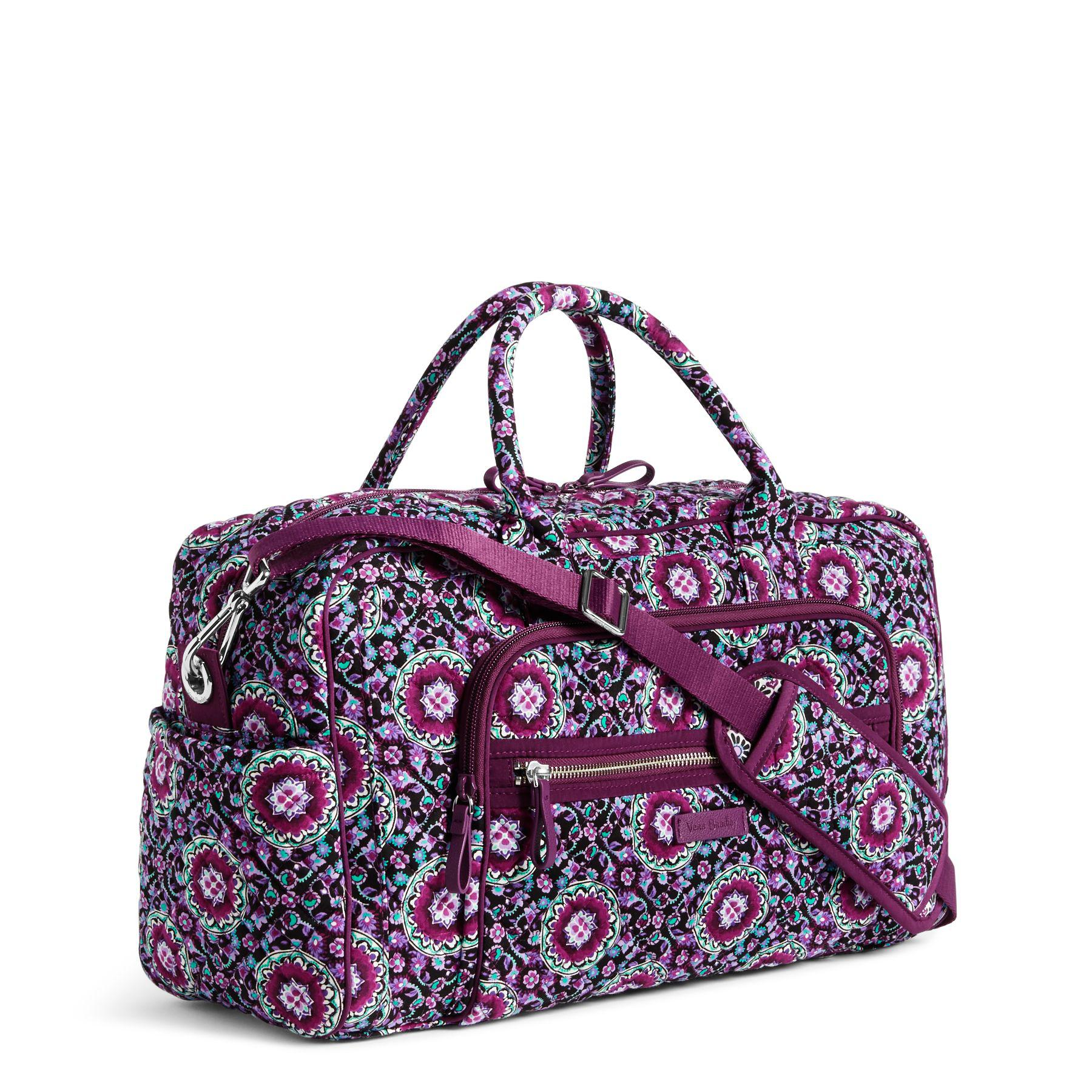 fa0a02fb5b Lyst - Vera Bradley Iconic Compact Weekender Travel Bag in Purple