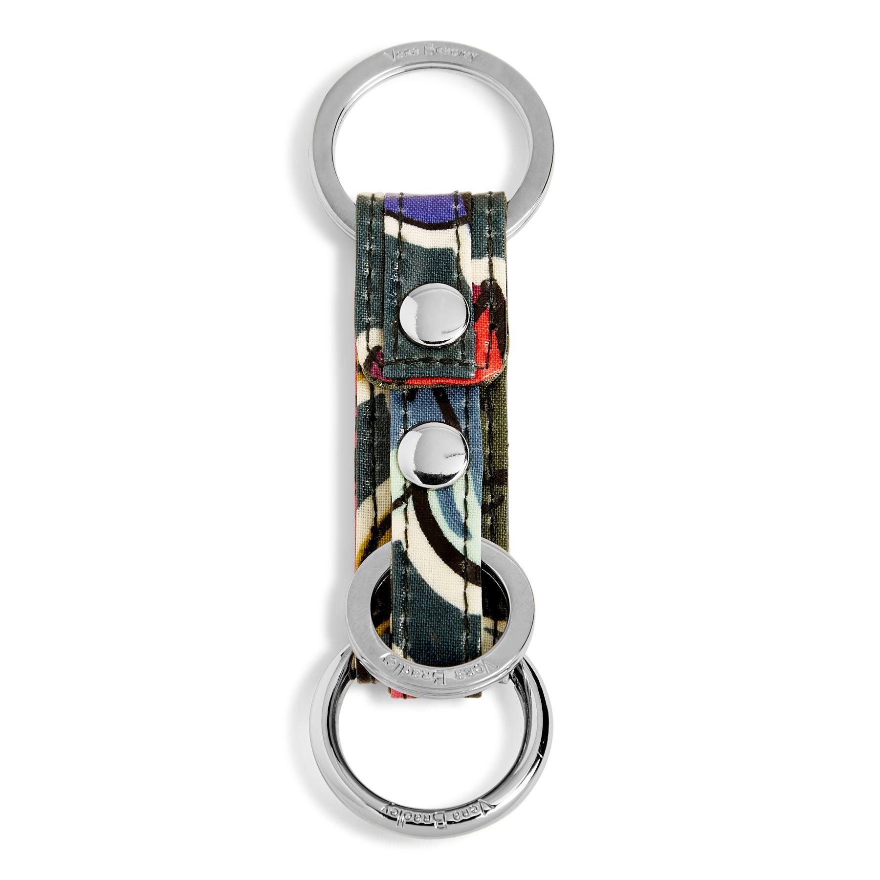 d70aaae8a57 Lyst - Vera Bradley Iconic Three Times A Keychain