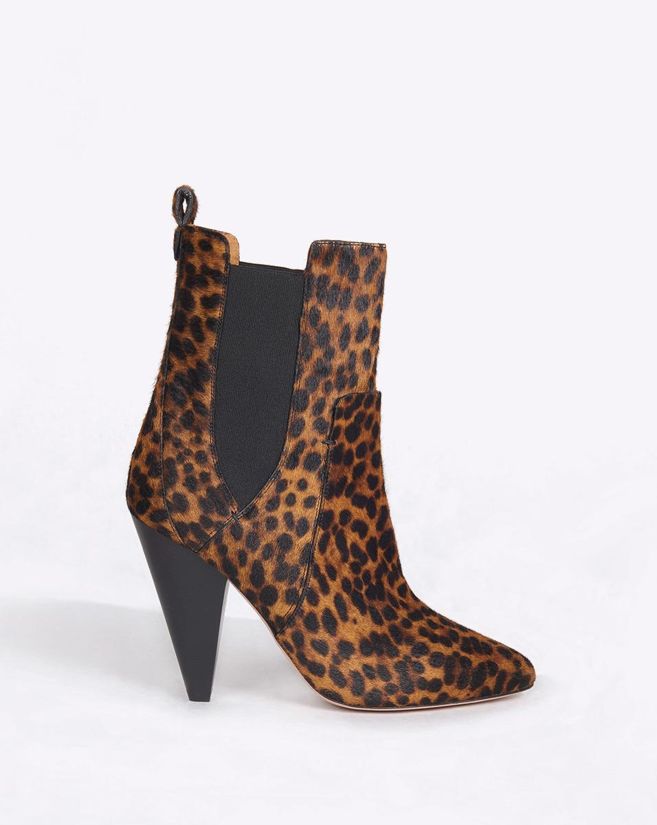 Veronica Beard Denim Hudson Chelsea Boot in Leopard (Brown)