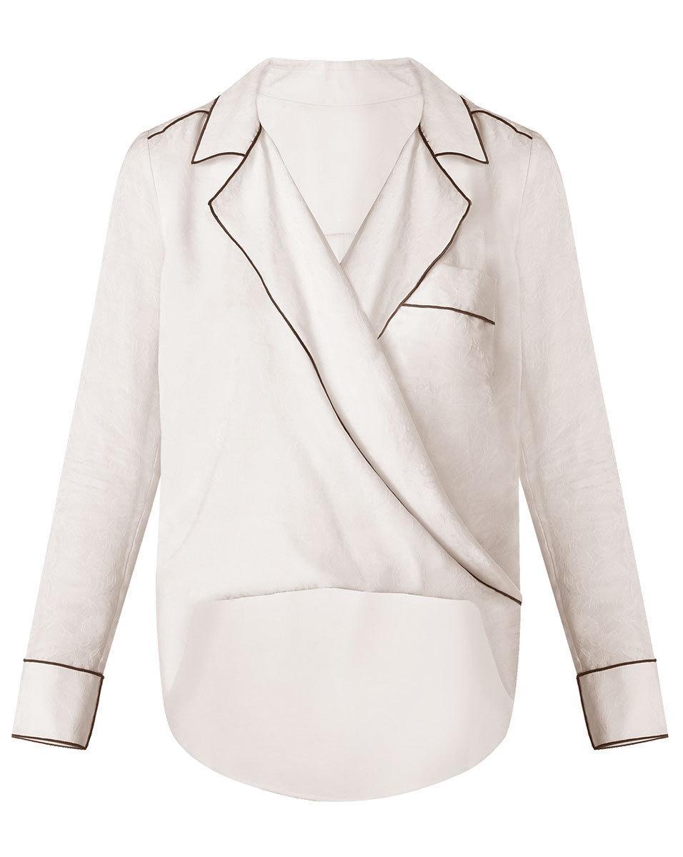 dddd18842023a7 Lyst - Veronica Beard Worth Blouse in White