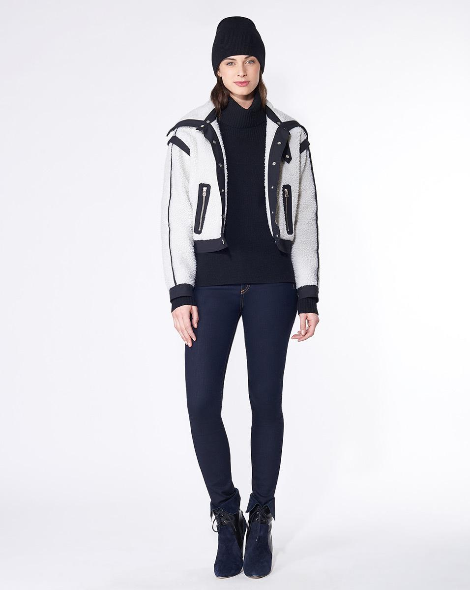 Discount Comfortable Veronica Beard Paneled Zip-Up Jacket Cheap Online Store 100% Guaranteed Cheap Price Discount For Nice LNdbFPc