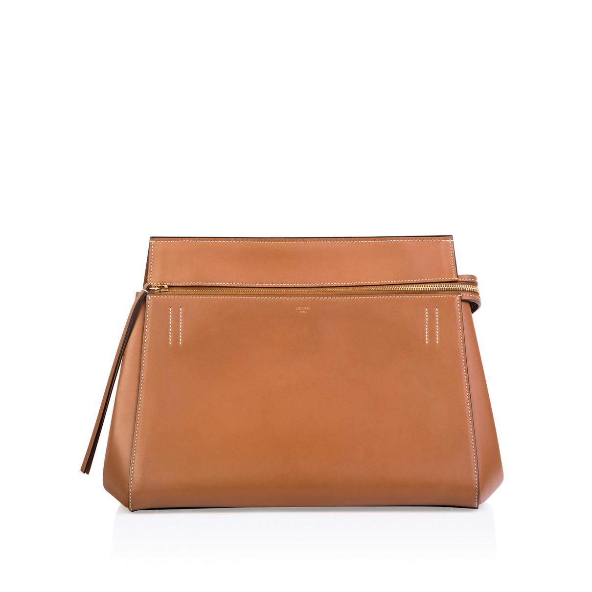 e9e61740c281 Céline Pre-owned Edge Leather Handbag in Brown - Lyst