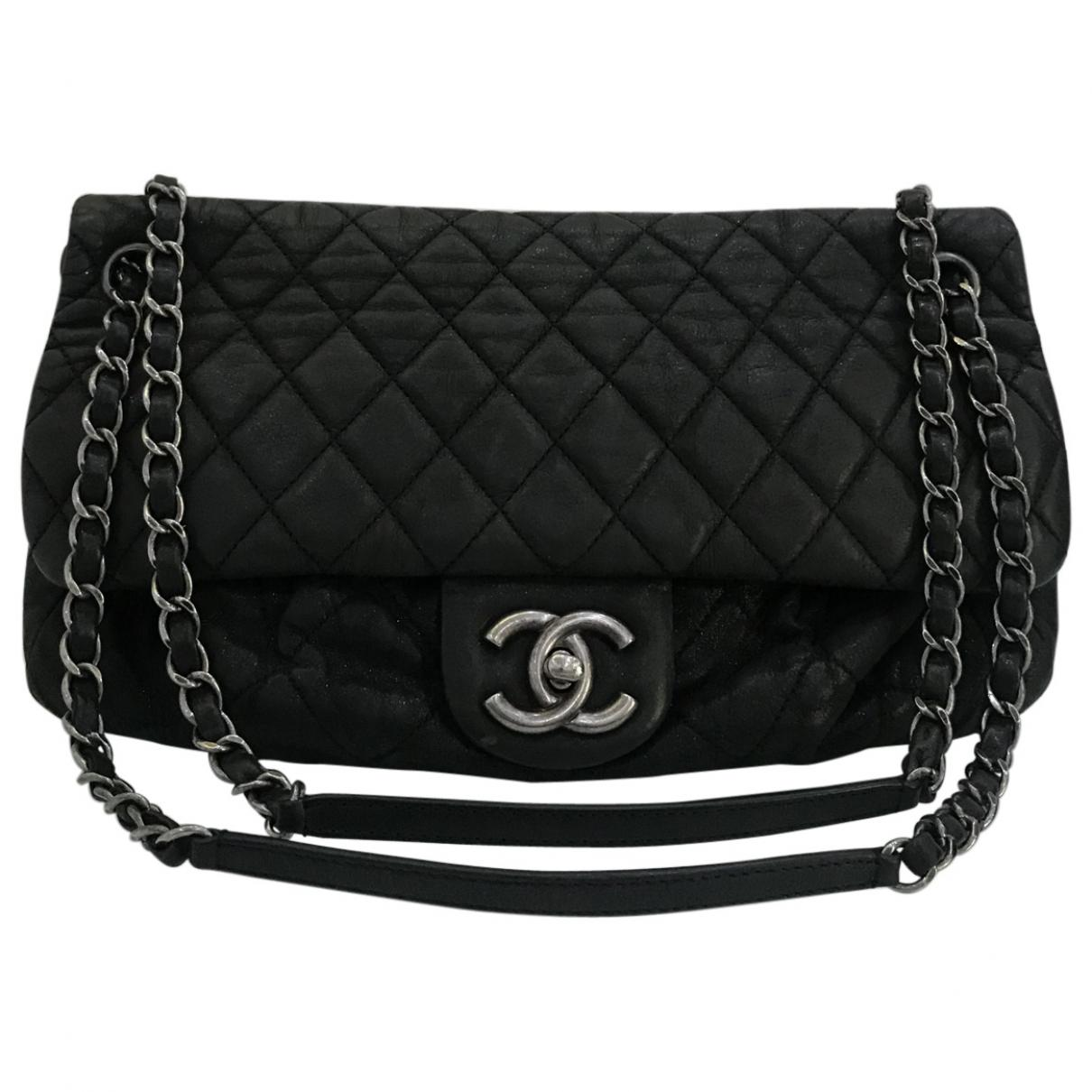 99caafbea568 Lyst - Chanel Timeless Leather Handbag in Black