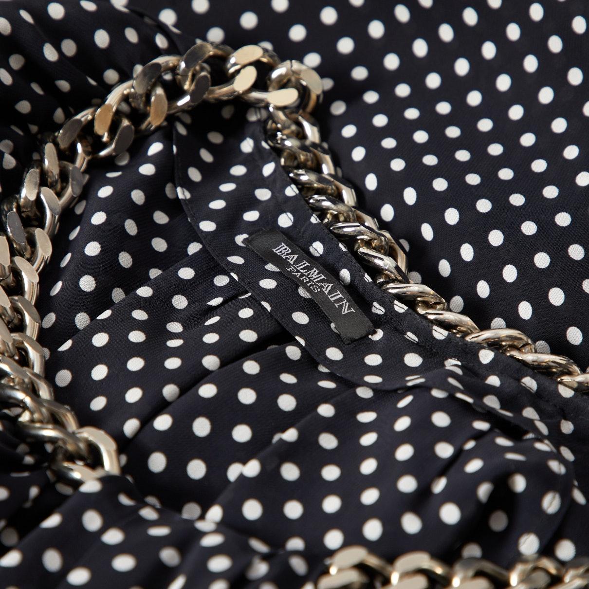 Vestido en seda negro N Balmain de Seda de color Negro