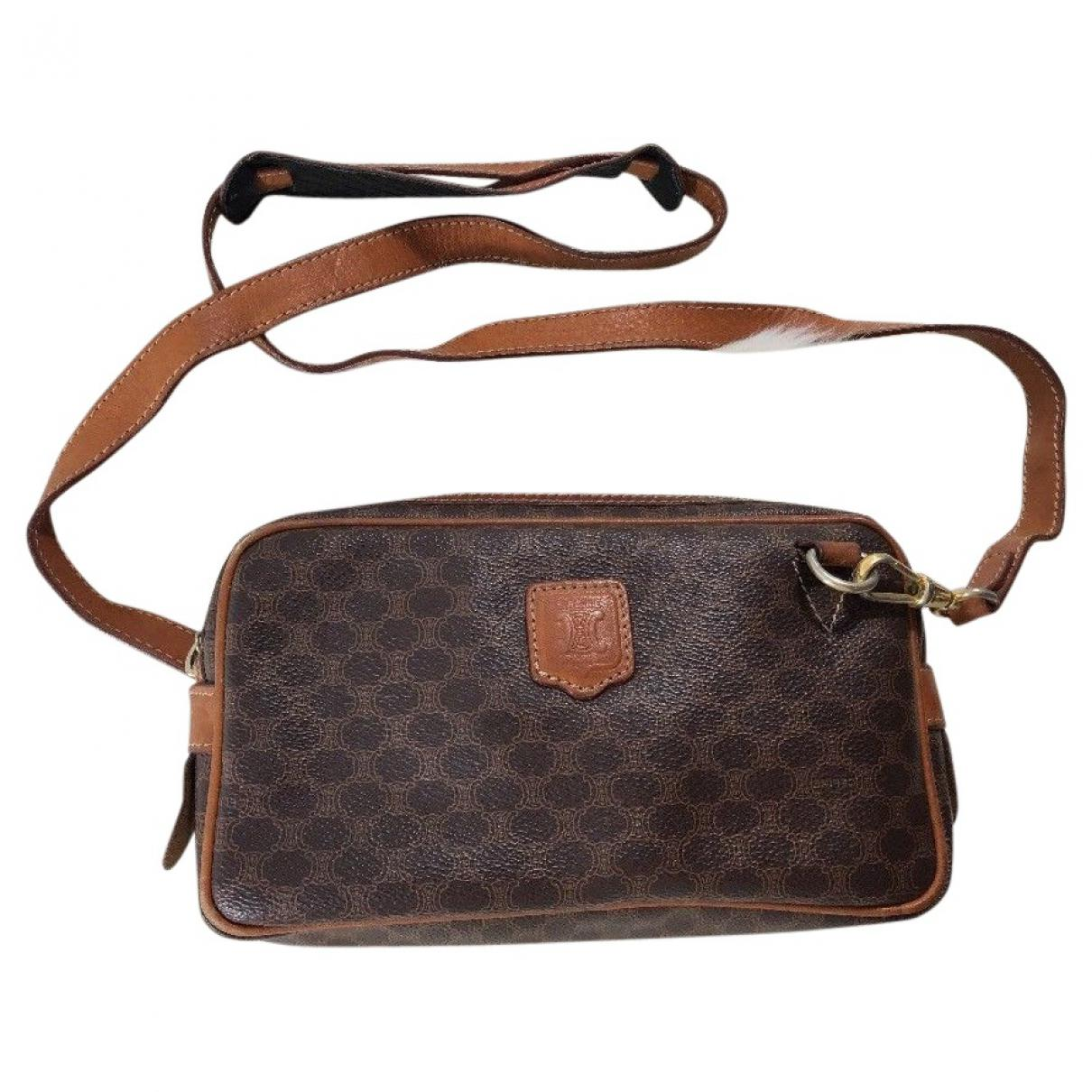 997fbcb841a9 Céline Cloth Crossbody Bag in Brown - Lyst
