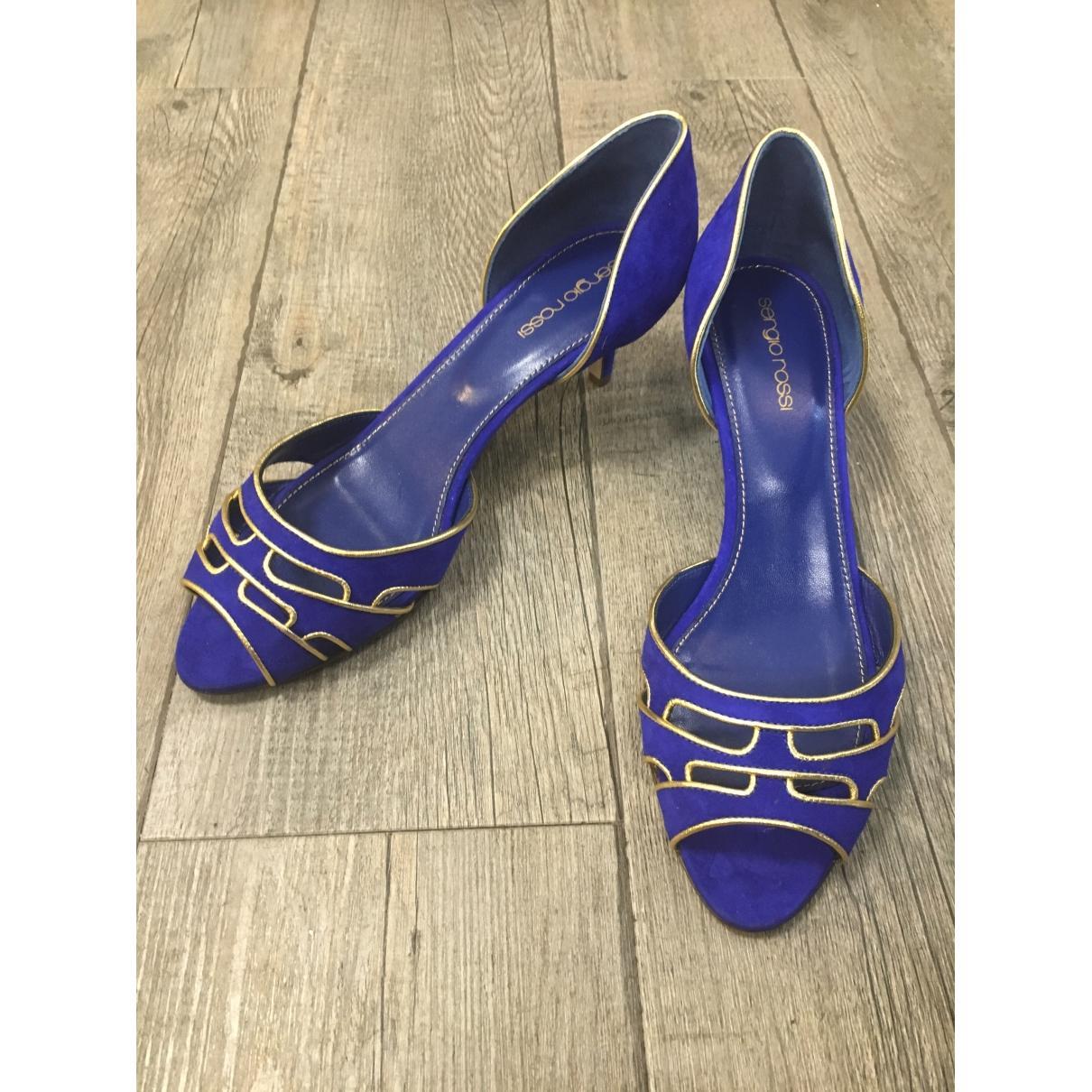 Tacones de Cuero Sergio Rossi de Cuero de color Azul