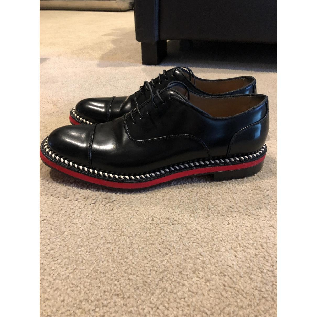 Christian Louboutin Leather Flats in Black for Men