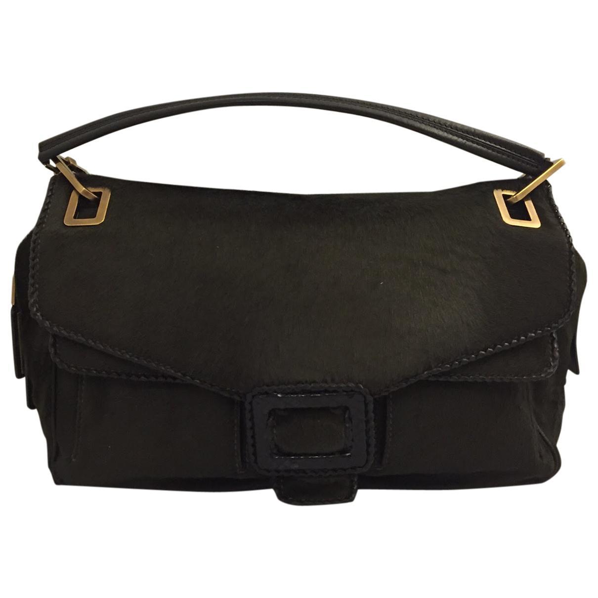 3d4d56fb0297 Lyst - Roger Vivier Pony-style Calfskin Handbag in Black
