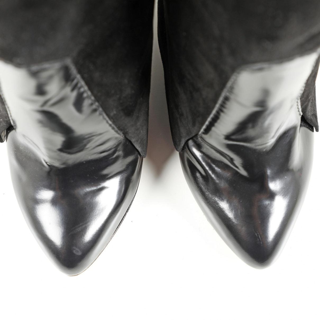 Botas en cuero negro Givenchy de Cuero de color Negro