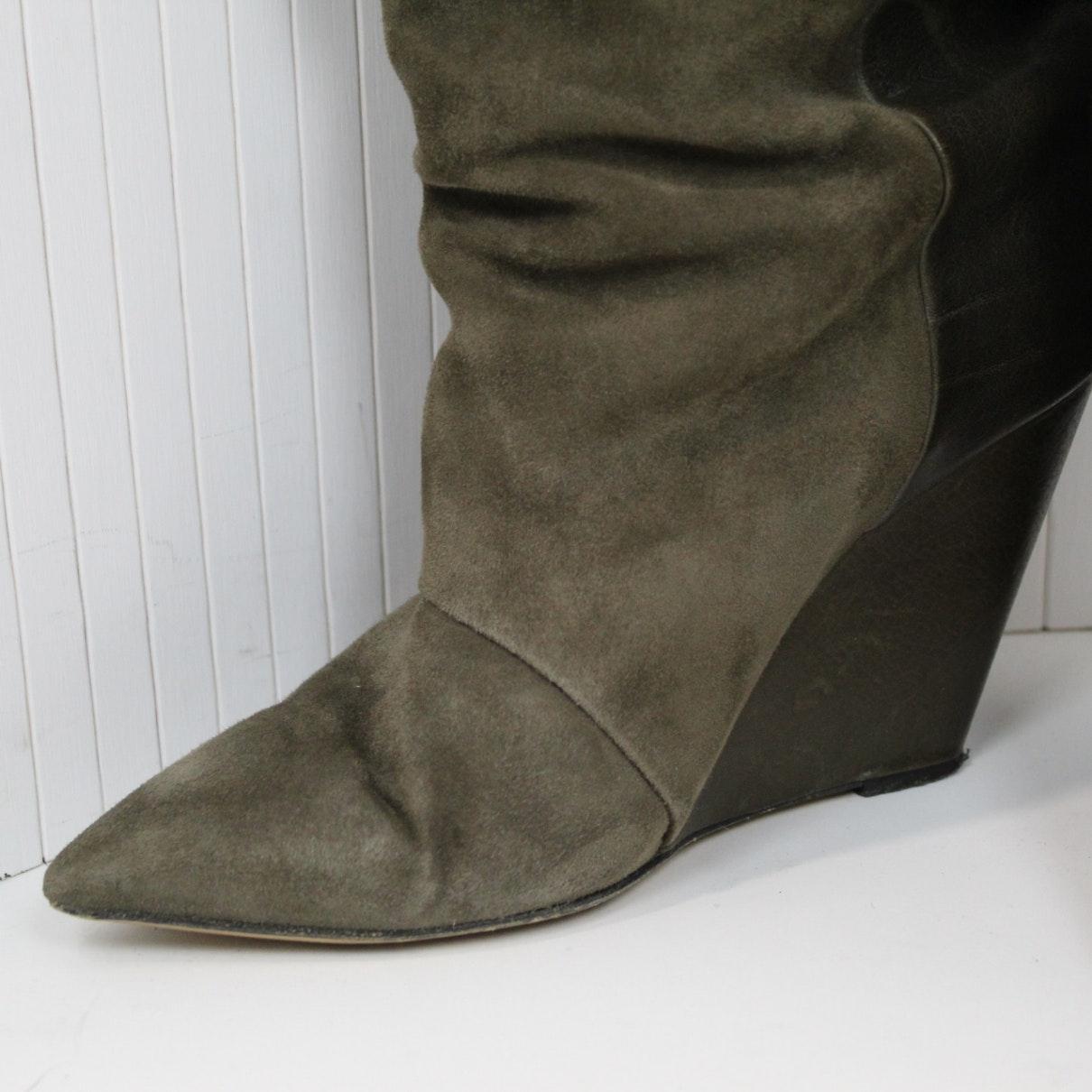 Botas en ante marrón N Isabel Marant de Ante de color Marrón